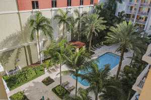 Lap pool and courtyard