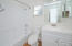 New vanity, new floors, bathtub redone