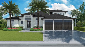 Front yard rendering, final landscaping week of March 18-21, 2019