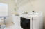Spacious laundry room off of kitchen
