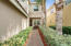 Welcoming brick paver walkway