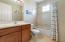 Second bathroom upstairs has a bathtub/shower combo