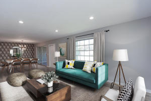 Open Plan Living/Dining Room - Virtually Staged Furniture
