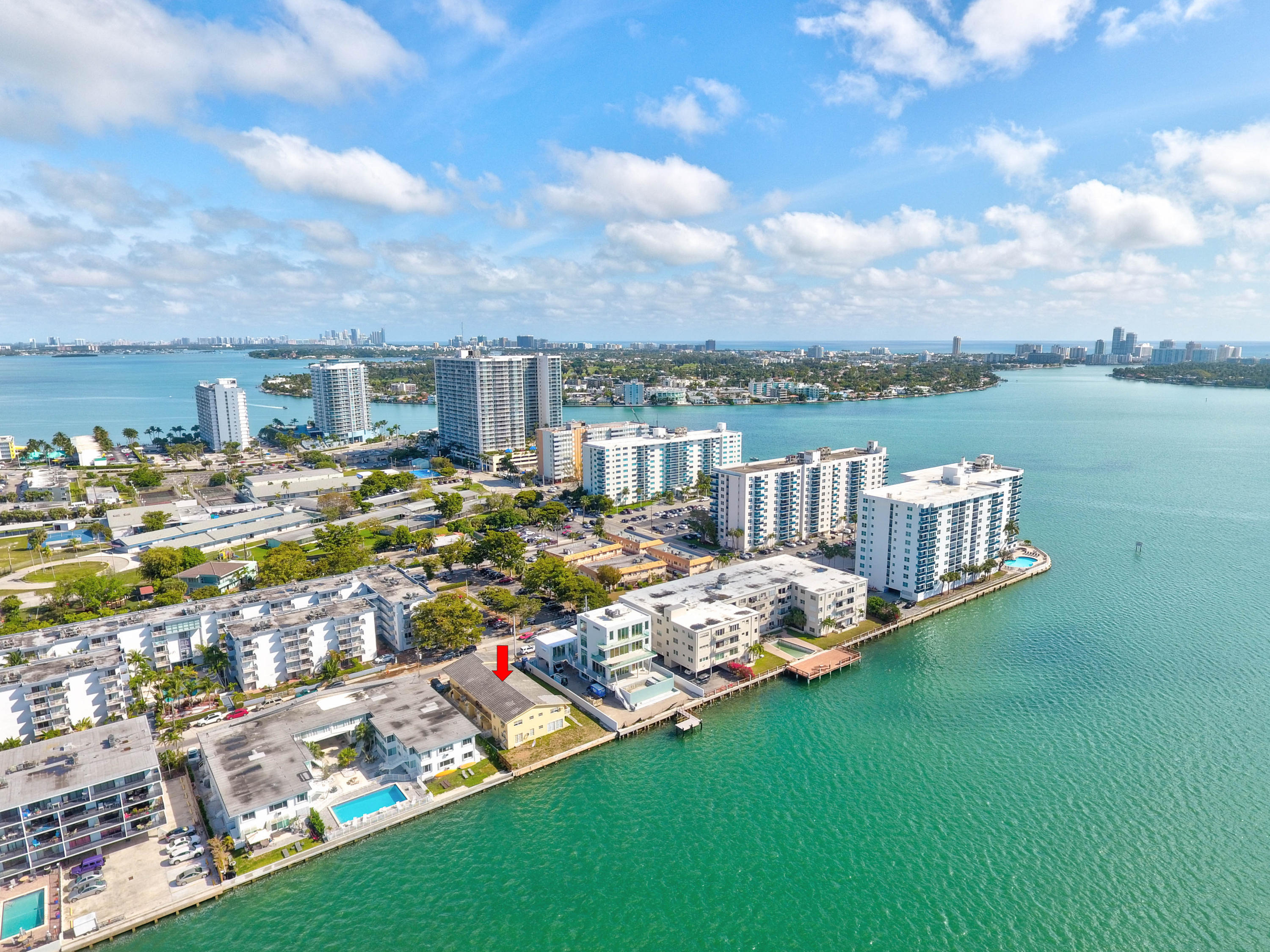 FANTASTIC 10-UNIT APARTMENT BUILDING ON THE INTRACOASTAL. INCREDIBLE OPEN BAY VIEWS FROM THIS 2-STORY CBS BLDG W/2- 2/2'S AND 8- 1/1'S ON A LARGE 12,000 SF LOT ON A VERY PRIVATE AND TRANQUIL STREET. CONSISTENTLY FULLY RENTED, PROPERTY FEATURES UPSIDE AS SOME UNITS ARE RENOVATED & SOME OTHERS CAN BENEFIT FROM A UNIT IMPROVEMENT PROGRAM; RENTS CAN BE CONSIDERED LOWER FOR THE AREA. UNITS INDIVIDUALLY METERED FOR ELECTRIC; OWNER PAYS FOR WATER. CAN BE SOLD TOGETHER WITH A 16-UNIT IN SOUTH BEACH, PLEASE INQUIRE. PROPERTY IS ON A GROUND LEASE (EXPIRES 08/14/2055; RENT IS $2,500/YEAR) WHICH -IF DESIRED- CAN BE CANCELLED UPON CLOSING OF THE LOT & THE BUILDING, IF SOLD TO THE SAME BUYER. BUILDING IS OFFERED AT $1,500,000 AND LOT IS OFFERED SEPARATELY AT $1,000,000. SEE MORE IN SUPPLEMENT REMARKS. LOCATED IN BEAUTIFUL NORTH BAY VILLAGE, THE PROPERTY IS JUST 2 BLOCKS AWAY FROM NE 79th ST/NORMANDY DR. FROM THERE, IT CONNECTS MIAMI TO MIAMI BEACH MAKING THE PROPERTY ACCESSIBLE TO ALL THE AREA'S FANTASTIC RESTAURANTS, SHOPPING, ENTERTAINMENT AND FAMOUS MIAMI BEACHES. IN ADDITION, GOING WEST, IT IS EASILY ACCESSIBLE TO THE GOLDEN GLADES INTERCHANGE AND FROM THERE TO MAJOR SOUTH FLORIDA DESTINATIONS.