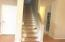 Stair case with carpet removed