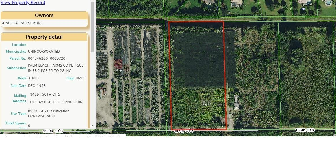 8469 156th Court, Delray Beach, Florida 33446, ,Land,For Sale,156th,RX-10519210
