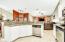 Open floor plan to family living aea