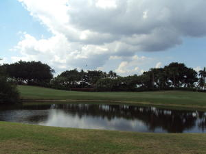 VIEW OVER LAGOON TO GOLFCOURSE