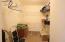 Walk in closet - guest room
