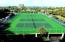 Two tennis courts and 2 Pickle Ball courts