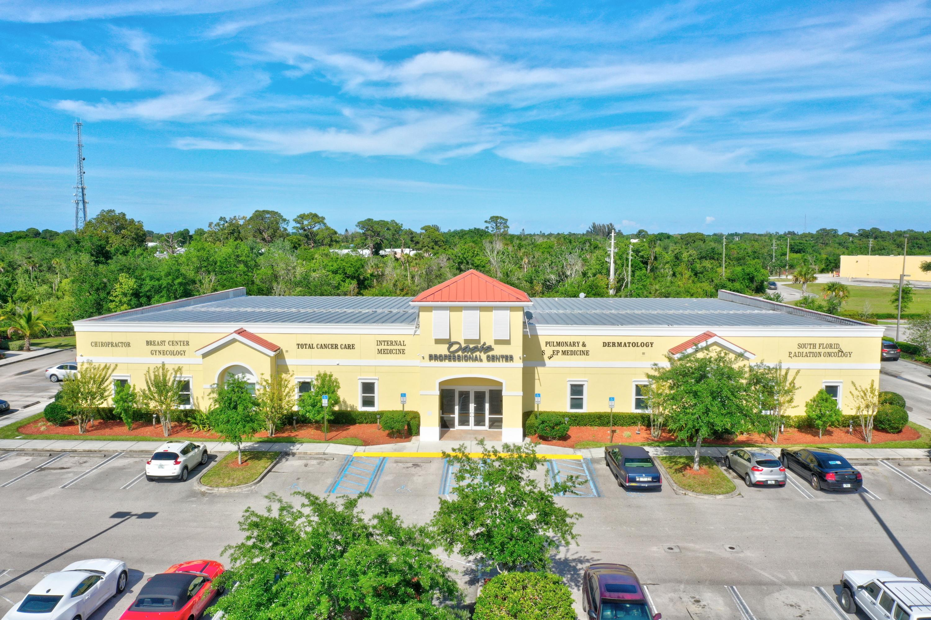 Great Investment opportunity! Join other Medical Professionals in this professional office building located directly on US 1, just south of the future Crosstown Parkway intersection and just a mile to St Lucie Medical Hospital.Suite 101 allows for an owner occupant to move in right away, or lease with option to purchase. Suite 101 includes a waiting room, Reception Area, 4 Exam Rooms plus 2 additional rooms for offices or exam rooms, Kitchen, 2 open rooms and 2 Executive Offices with shared private bath and kitchenette.Suites 101 and 103 are both available for sale, or lease/purchase Suite 101 alone.