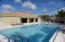 The community pool is another option for gathering with family and friends.