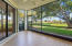 Screened patio with quiet preserve view