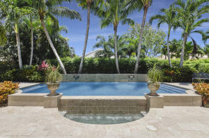 Pool, Waterfall, Spa from Living Room; Magnificent Palms