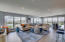 Walls of floor to ceiling windows with spectacular views of Lake Wyman and the intracoastal from the west windows and west balcony and the ocean from the north windows and north balcony.
