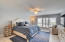 Spacious master bedroom with great views of the intracoastal and Lake Wyman