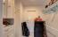 Large walk in master bedroom closet