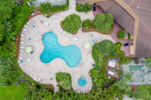Pool hot tub and club house