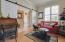 Modernized with barn doors and plantation shutters