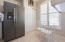 Generous sized pantry, eat-in-kitchen