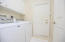 Very good quality Washer and Dryer - door leads to garage
