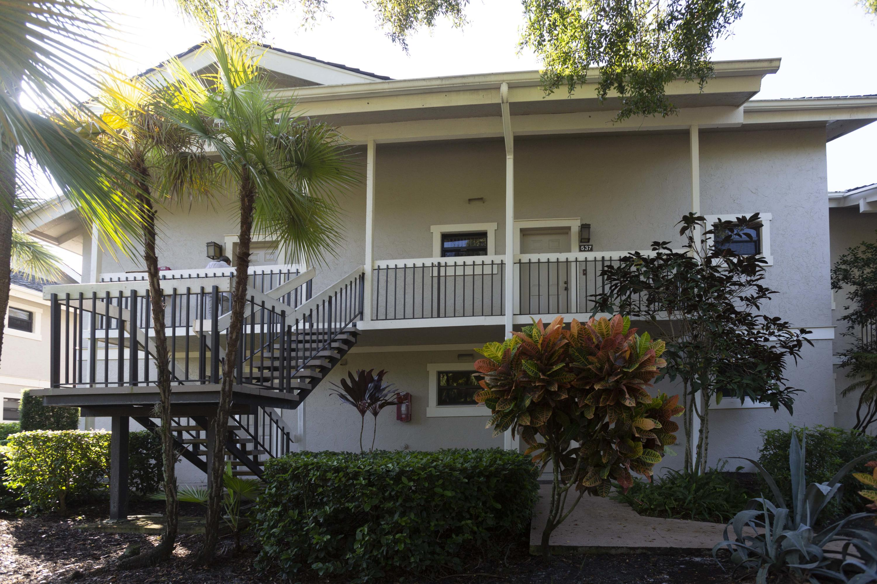 Lovely Tennis Lodge Condo Located In The Palm Beach Polo Club. Great For Investment.  Can be Rented As A Studio And A One Bedroom Or A Two Bedroom With Connecting Door.