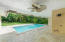 Travertine Stone Covered Patio and Pool Views