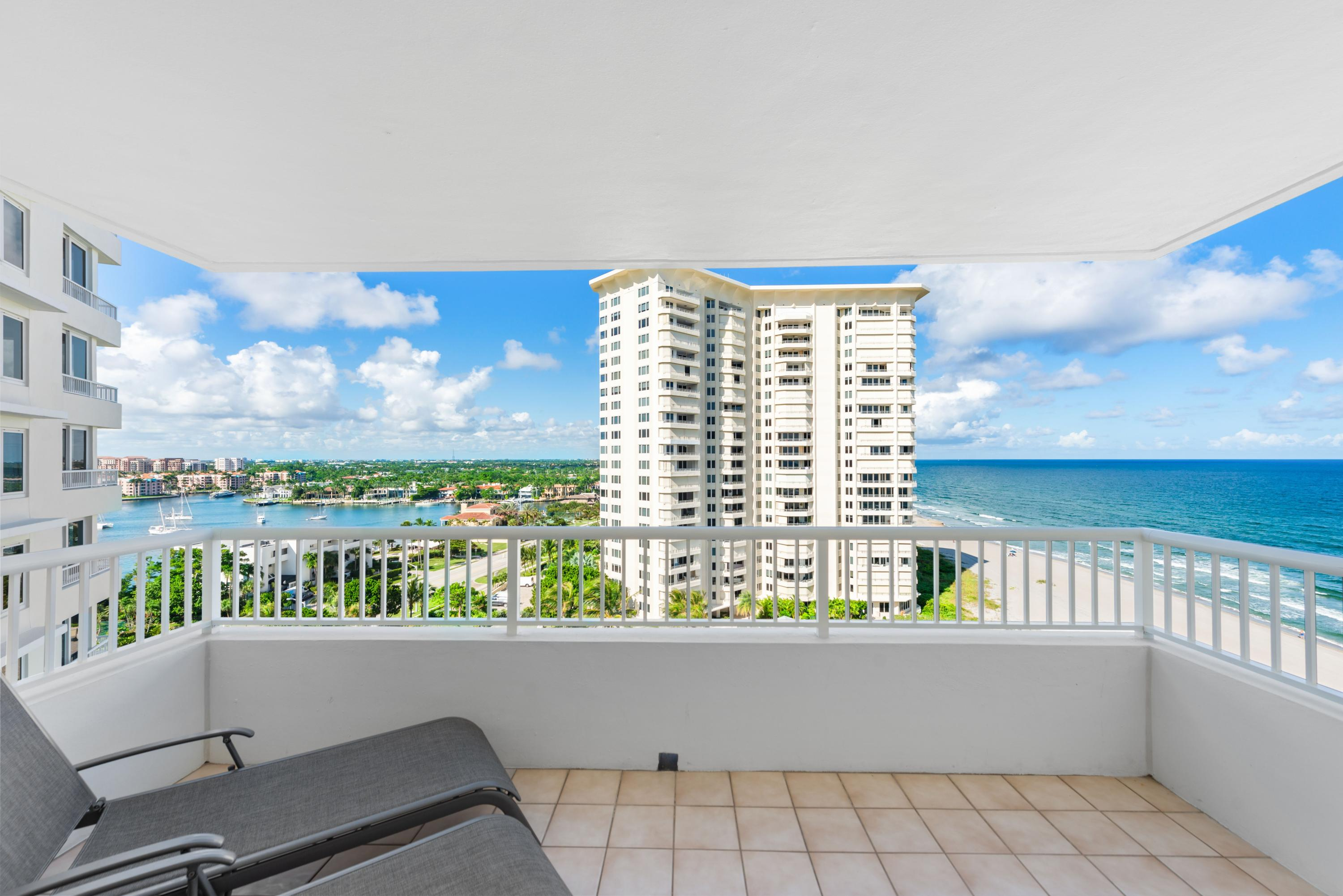If you want the best, here it is!  Located in desirable Sabal Shores.  Spectacular City, Ocean and Lake Boca views from this gorgeous 11th floor unit.  This unit is bright and has been tastefully renovated with 48'' Italian Marble throughout.  Cream colored cabinets with pull out drawers.  Solid black granite countertops.   This unit offers a split floor plan and can be used as two master suites with a guest powder room. Private beach access and private pool.  This is a must see!  Book your showing today!!!