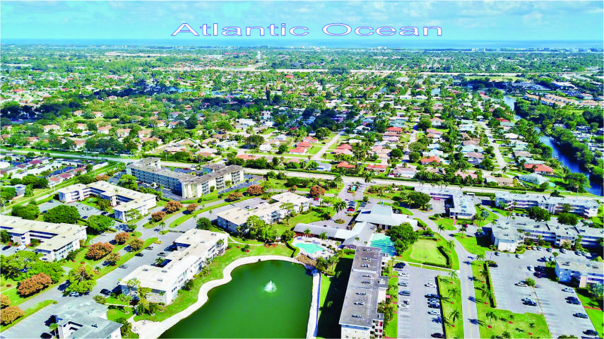 Very nice convertible unit with new kitchen and bath.  Move in condition with furnishings. Laminate flooring in living area and tile in bedroom. There is covered parking space. Lake Clarke Gardens has elevators and two community pools, billiard, library, community bus service and more.