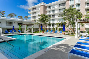 Apartment opens directly on tropical, 3rd floor pool deck