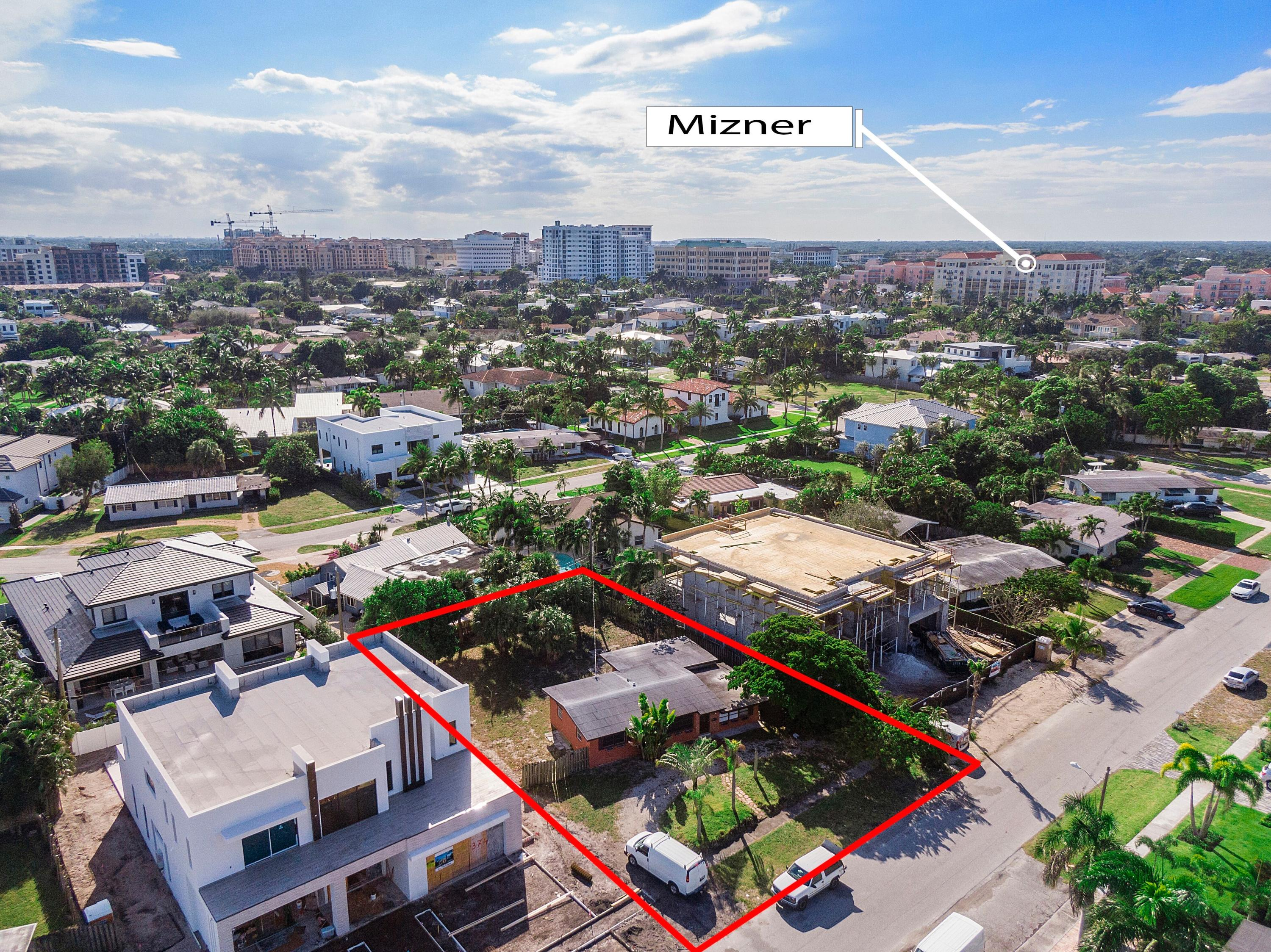 Prime opportunity to build your dream home in one of Boca Raton's most desirable neighborhoods.  Walking distance to Mizner Park and only minutes to the beach.