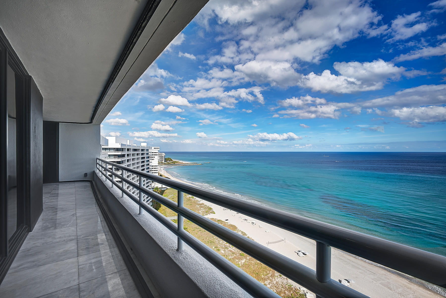 Welcome to an Ultra Modern Oceanfront Paradise! This rare (only available) professionally designed and fully renovated penthouse condominium provides magnificent direct oceanfront and City views. Expansive 9 foot ceilings with floor to ceiling windows/sliders providing unparalleled ocean and city vistas.All Miele German Appliances ThroughoutItalian Cabinets In Primary Kitchen, Caterer's Kitchen and Bathrooms24 X 24 Turkish Marble Floor Throughout Interior and Exterior BalconiesFull Gourmet Primary KitchenTwo (2) Separate PantriesCaterer's Kitchen with Miele appliances plus Designated StorageLaundry Room with Miele W/D and expansive storageLISTING INC. AIR-CONDITIONED PRIVATE DESIGNER BEACH CABANA:Beach Kitchen with Sink, Cooktop and Refrigerator/FreezerEuropean W/