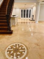 Gorgeous marble floors recently refinished