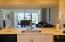 View through kitchen
