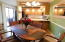 Some furnishings shown here are negotiable in this townhome