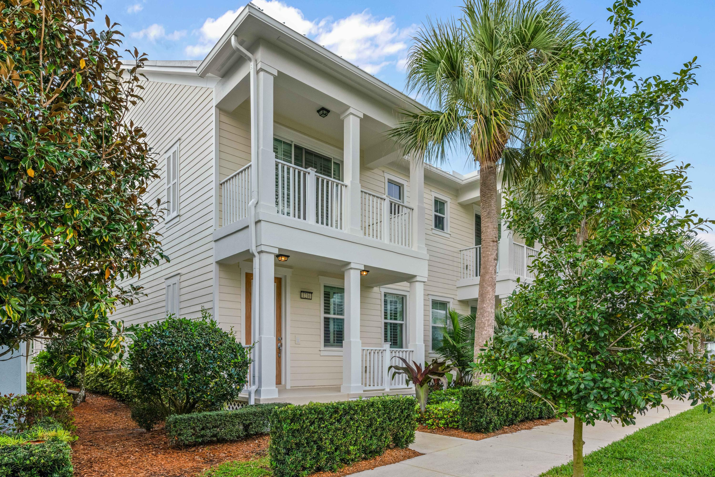 Immaculate DiVosta-built, Nautica model townhome in Mallory Creek at Abacoa! This 3 bedroom 2 and 1/2 bath townhouse features all impact-rated windows and doors, plantation shutters, custom light fixtures, an open kitchen with center island, granite countertops, and stainless appliances, all finished downstairs with beautiful tile floors. Upstairs the spacious Master suite opens to a private balcony, walk-in closet with custom built-ins, and en-suite Master bath with dual sinks. Two additional guest bedrooms share a full bath with dual sinks and tiled shower tub. Relax on the Southern-exposure, freshly painted, private patio leading to a full, two-car garage with built-out attic space, additional storage, and paver driveway. New AC in 2016 with upgraded UV filtration system! Enjoy all that Mallory Creek has to offer : club house, community pool, fitness center, playground, plus the dining, shopping, and entertainment of Abacoa, and much more!