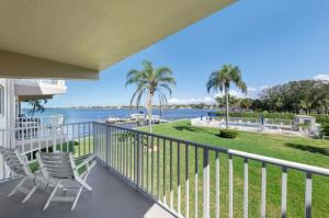 Balcony view toward Intracoastal Waterway, Dock, and Pool