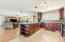 Open kitchen/living