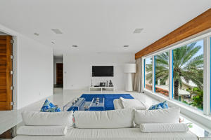 master sitting area and television