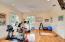 Second level living/gym area