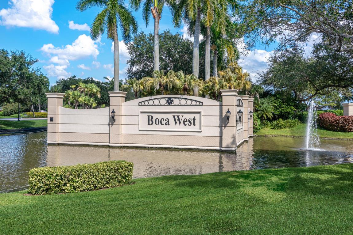 Entrance to Boca West