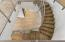 Staircase with wood flooring
