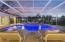 Sunset pool side.