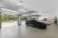 4 car garage with tiled floor