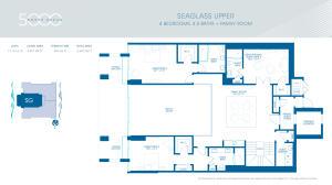 Seaglass Upper Level Floor Plan