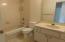Full tiled bath on main 2nd level