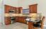 Real wood cabinets, granite countertops & stainless steel appliances
