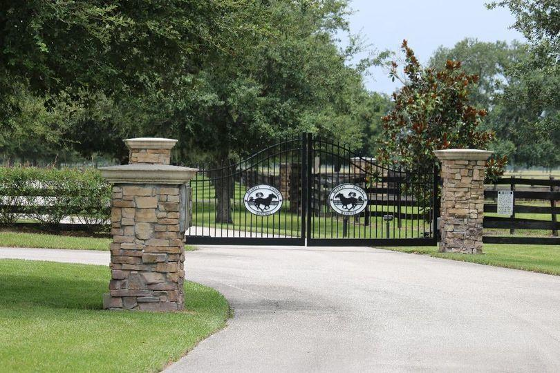 Lighted and gated entrance
