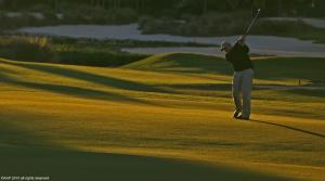 Old Palm golfer at sunset 2010 AAP