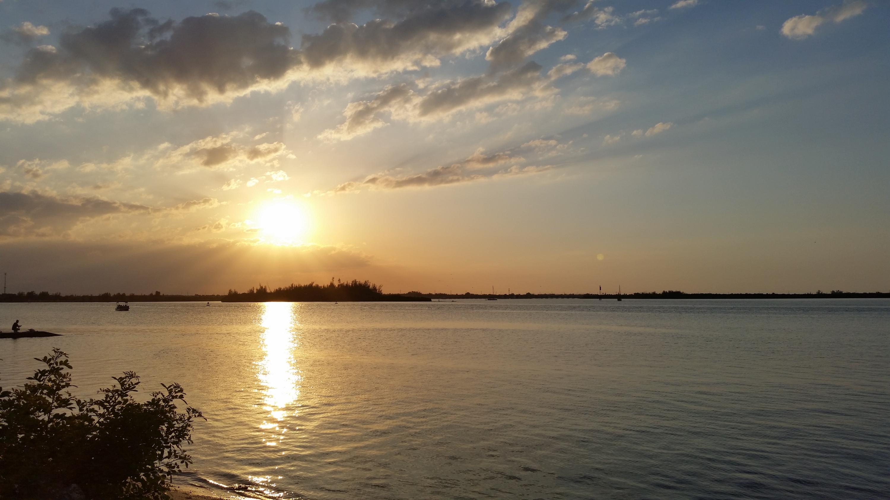 Fort Pierce Inlet at Sunset